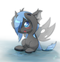 Water changeling pony by ZymonasYH