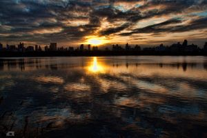 Sunset over the West Side by carlosthomas