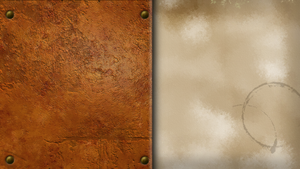 Leather book wallpaper by MilkMoustache