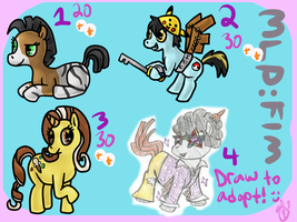 MLP Adoptables [Closed] by Chocodopts