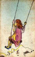 Girl On A Swing by dioxity
