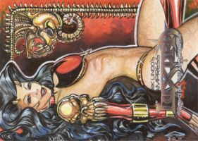 VAMPRESS LUXURA Artist  Proof Sketch Card 1 by AHochrein2010