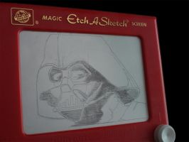 Etch a Sketch-Darth Vader by BrianLadouceur