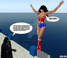 Wonder Woman Vs. Darth Vader 2 by The-Mind-Controller