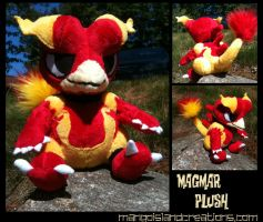 Magmar Plush by MangoIsland