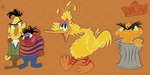 Primitive Sesame St. (45th Anniversary) by JonnyBCartoonMan