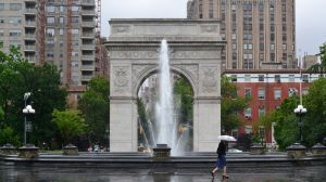 Washington square on a rainy day by ArtieWallace