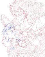Raditz first time seeing him by Paradise-of-Darkness