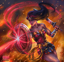 Is She With You? Wonder Woman speedpaint by Siga4BDN