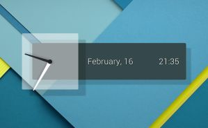 Popup Clock for xwidget by jimking