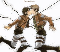 Attack on Titan - Accidental kiss by TechnoRanma