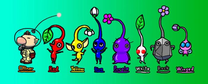 Olimar and the Pikmin by FlashtheGecko186