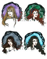 The Addams Sisters by MaeDreaM