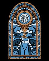 Stained Glass Katara by Fishmas