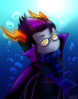Eridan in wwater by Eri-Yo