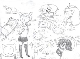 adventure time sketch dump by nilla-bean