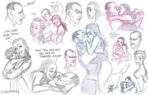 Thaal and Arin Sketchdump 01 by fangirl-art