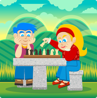 Kids Olaying Chess by Viscious-Speed