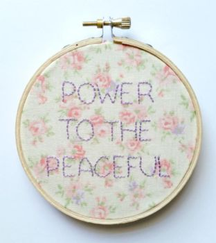 Power to the Peaceful Embroidery sgap by galaxygroove