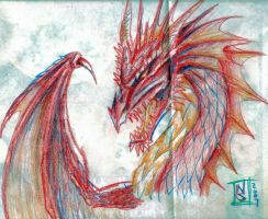 Red Dragon by SuperRoboticGriffon