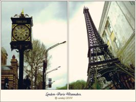 London-Paris Wannabes. by saniday