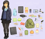 what's in my bag? by xaiisu