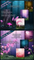 Background Mini Pack Orchids by cosmosue