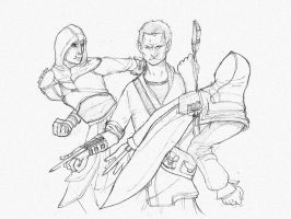 Assassin's Creed Sketch by ThatFalseHat
