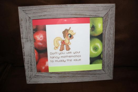 Applejack and Her Honest Quote FRAMED by NicMarRay