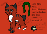 Zoku - New Ref Sheet by ZokuChoco