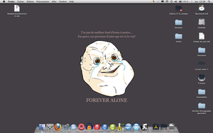 FOREVER ALONE WALL PAPER by thomson7