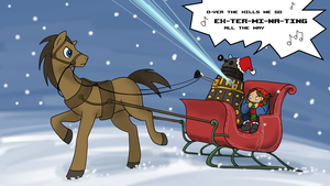 Sleigh Riding with a Dalek by kolidescope