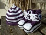 Hat and Booties by knerdy-knits