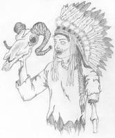 Zombie Indian Chief by FightTheAssimilation