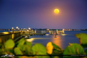 Jensen-Beach-Moon-Rise-at-Indian-Riverside-Park-Pi by CaptainKimo