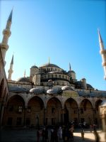 A peep inside the Sultan Ahmed Mosque by jacobjellyroll