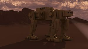 Mech walker WITH ANKLES WIP by Affet-kak
