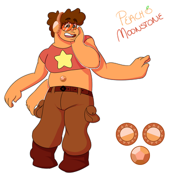 Peach Moonstone Steven/Topaz Fusion by MichPajamaArtist