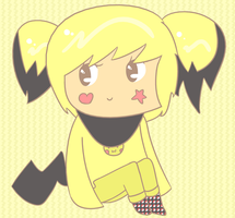 Gijinka - Notched ear Pichu by Tyetyez
