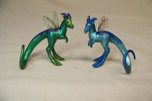 a pair of fairy dragons by AmandaKathryn