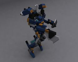 BlueBot Flying Pose by wingstorm