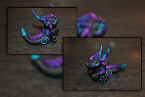 Baby Crystal Dragon by KirstenBerryCrafts
