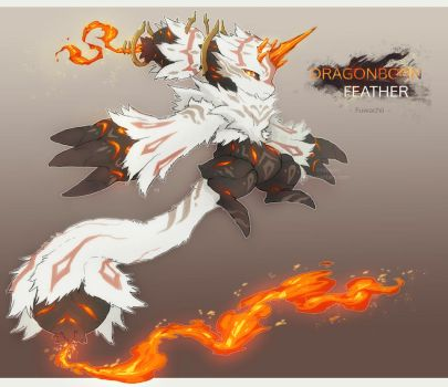 [CLOSED] Fuwachii Auction - Dragonborn Feather by Snouken