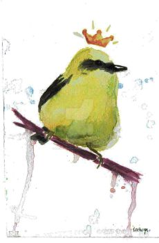 The king bird in yellow by arlequin-monocromo