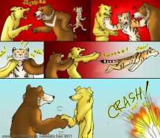 How to break a fight between Dog and Bear by SueaNoi