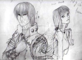 Seto Kaiba and Anzu Mazaki by dragonsheart87