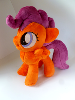 Scootaloo Plushie :Commission: by AppleDew