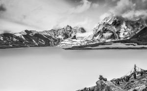 Gurudongmar Lake Sikkim, India by Sanjeewan