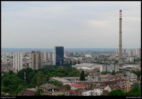 Zagreb from a hill 1 by danielnikolic
