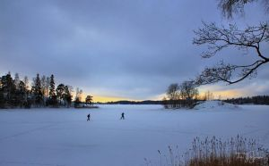 Cross-country skiers by Pajunen